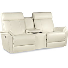 Beckett Power-Recline-XRw Full Reclining Loveseat W/ Middle Console