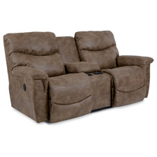 James La-Z-Time® Full Reclining Loveseat with Middle Console